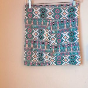 Large Charlotte Russe Aztec Pencil Skirt